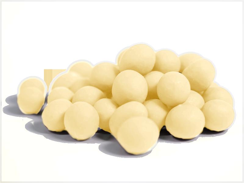 אגוזי לוז מצופים שוקולד לבן